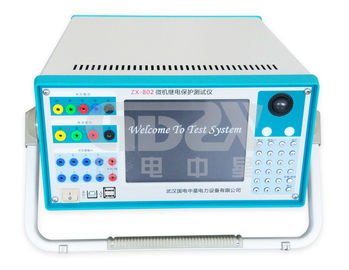 China ZX-802 Microcomputer Three phase industrial control type Relay Protection Tester distributor